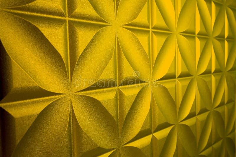 Il cuoio dorato può essere usato come fondo fotografia stock