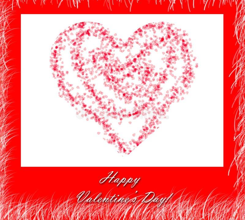 Il cuore del biglietto di S. Valentino immagini stock