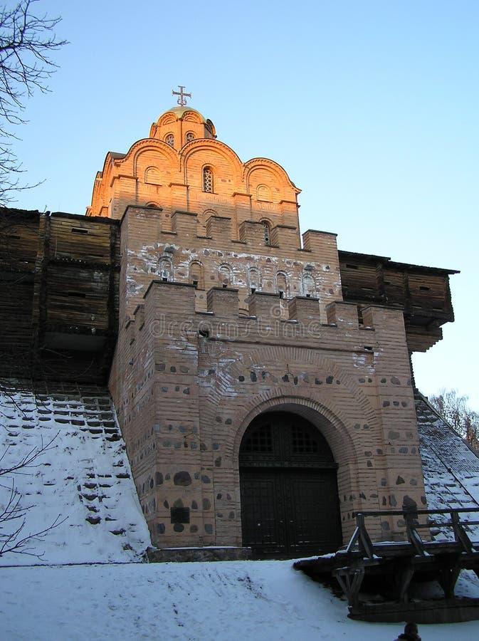 Il cuore dell'Ucraina è Kiev antica immagine stock libera da diritti