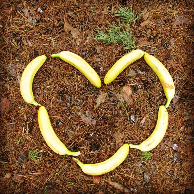 Il cuore delle banane immagini stock libere da diritti