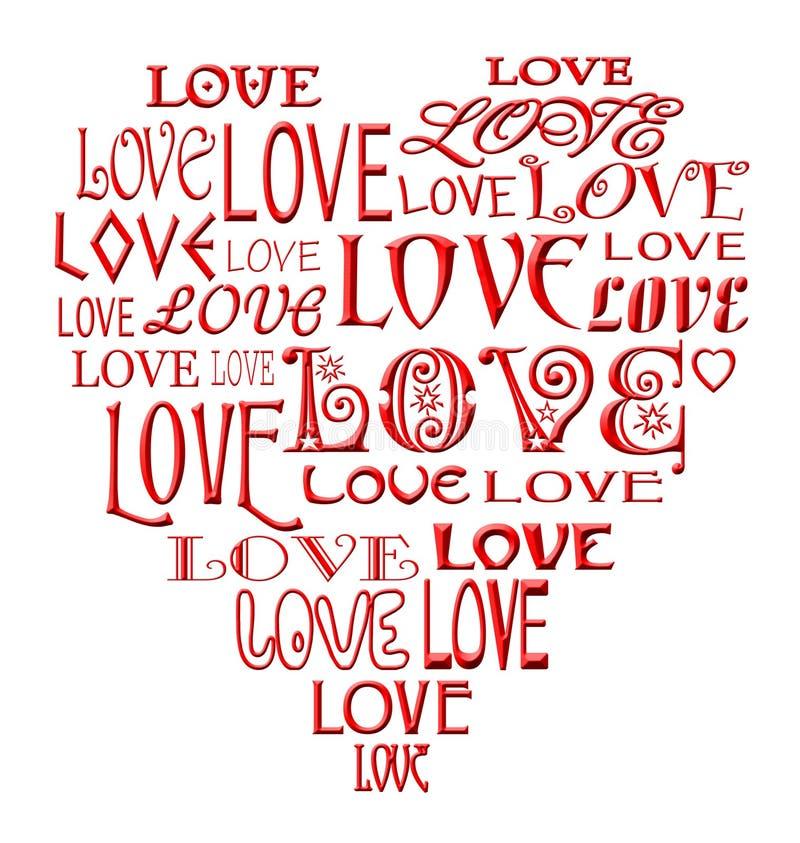 Il cuore di amore illustrazione vettoriale