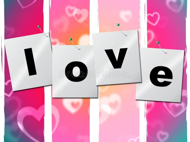 Il cuore di amore rappresenta Valentine Day And Boyfriend illustrazione di stock