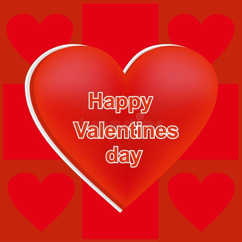 Il cuore di colore rosso, carta per il giorno del ` s del biglietto di S. Valentino della st, una festa degli amanti, è diviso ne royalty illustrazione gratis