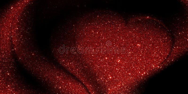 Il cuore di scintillio ha strutturato il fondo con goccia di acqua fotografia stock