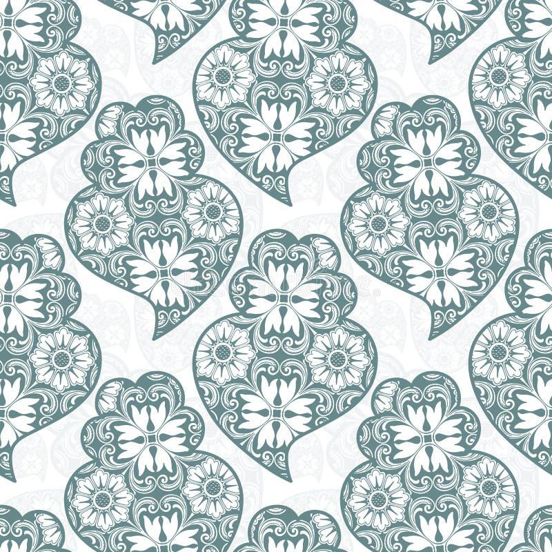 Il cuore di Viana del Portoghese di Traditionall e fondo delle mattonelle di azulejo royalty illustrazione gratis