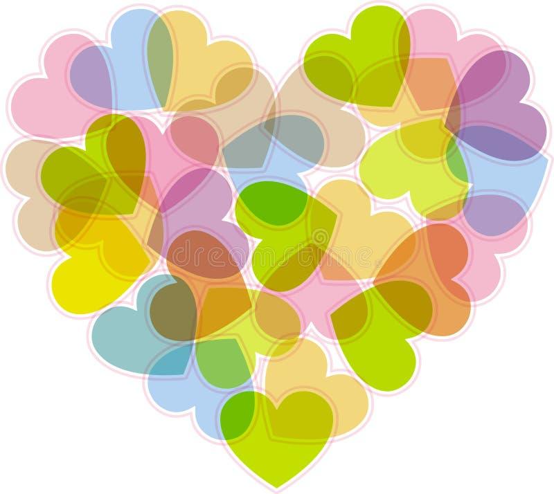 Il cuore per il giorno dei biglietti di S. Valentino illustrazione di stock