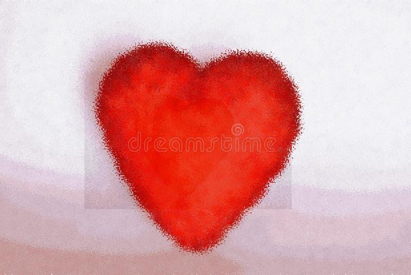il cuore sta vibrando davanti alla lettera del caro royalty illustrazione gratis