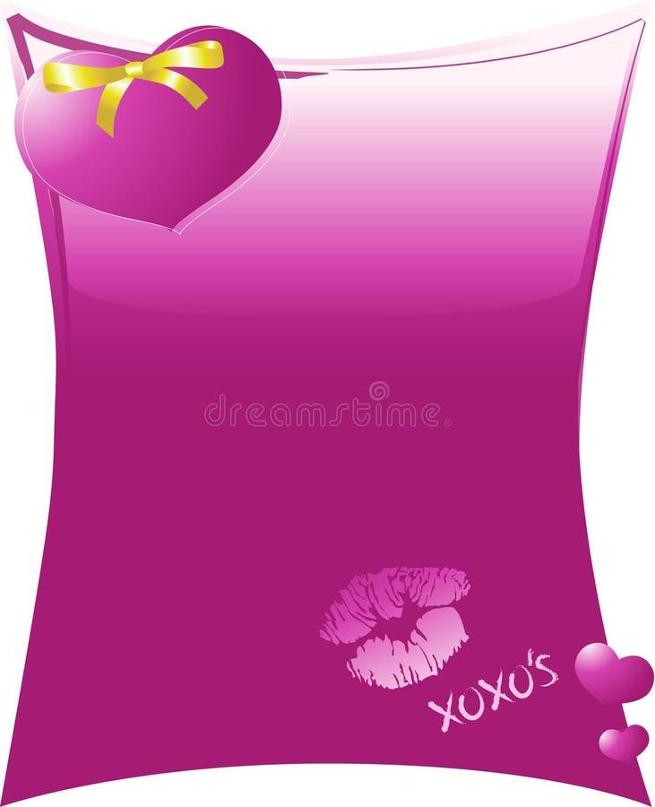 Il cuore viola e l'oro si piegano con gli abbracci ed i baci immagine stock libera da diritti