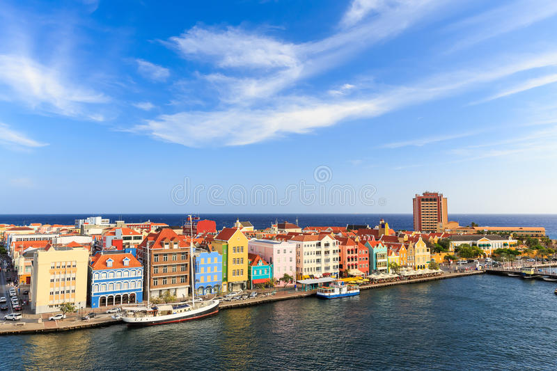 Il Curacao, Antille olandesi fotografia stock