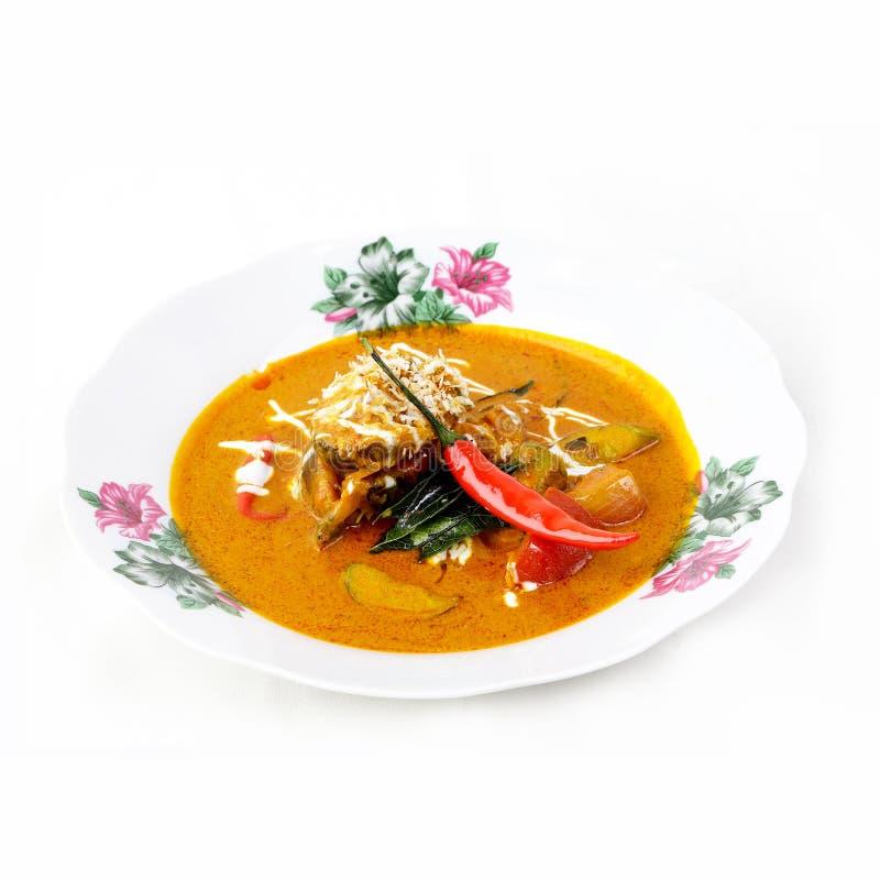 Il curry di Chuchi ha fritto il pesce, l'alimento tailandese delizioso, alimento tailandese di stile del curry immagine stock libera da diritti