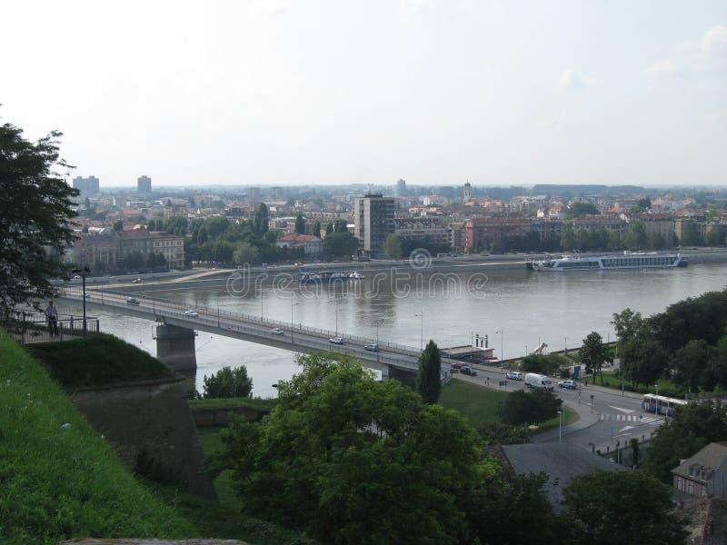 Il Danubio, Novi Sad, Serbia, fortezza, Petrovaradin immagine stock libera da diritti