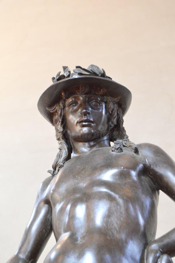 Il David bronzeo di Donatello fotografia stock