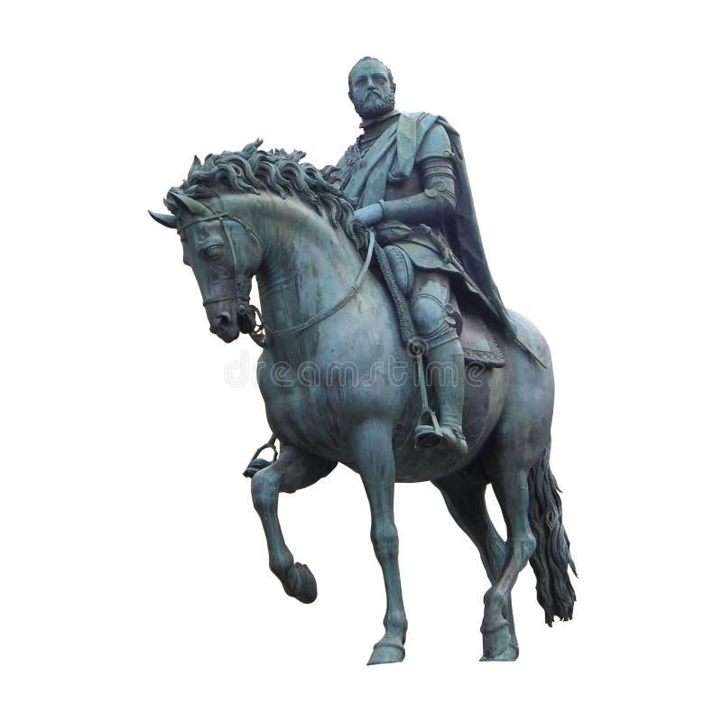 Il de Medici di Cosimo I da Giambologna ha isolato illustrazione vettoriale