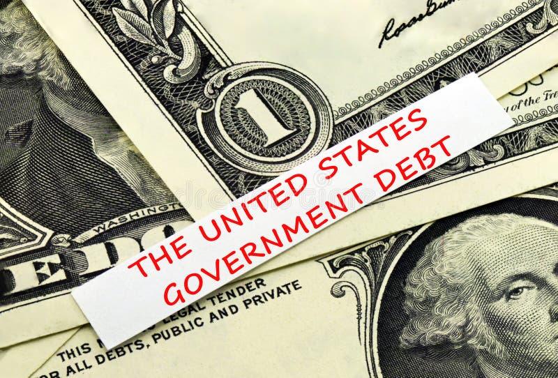Il debito degli Stati Uniti immagine stock libera da diritti