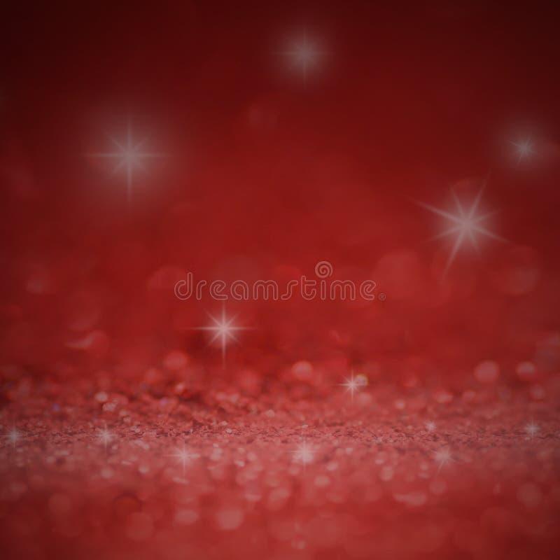 il defocus dell'annata di scintillio accende il fondo rosso, bianco e nero per il Natale ed il fondo del nuovo anno illustrazione di stock