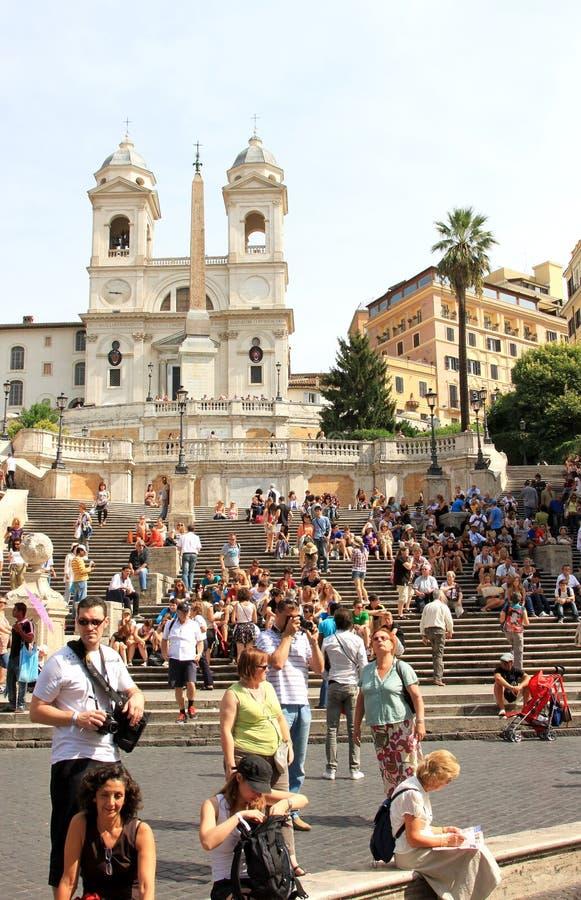 Punti spagnoli da Piazza di Spagna, Roma immagine stock