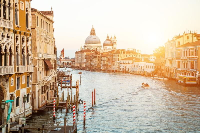 Il della di Santa Maria della basilica e del canal grande saluta, Venezia, Italia immagini stock libere da diritti