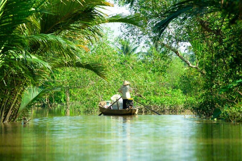 Il delta del Mekong, può Tho, Vietnam fotografie stock libere da diritti