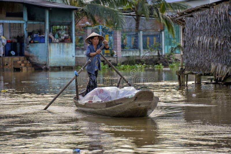 Il delta del Mekong, può Tho, Vietnam immagini stock libere da diritti