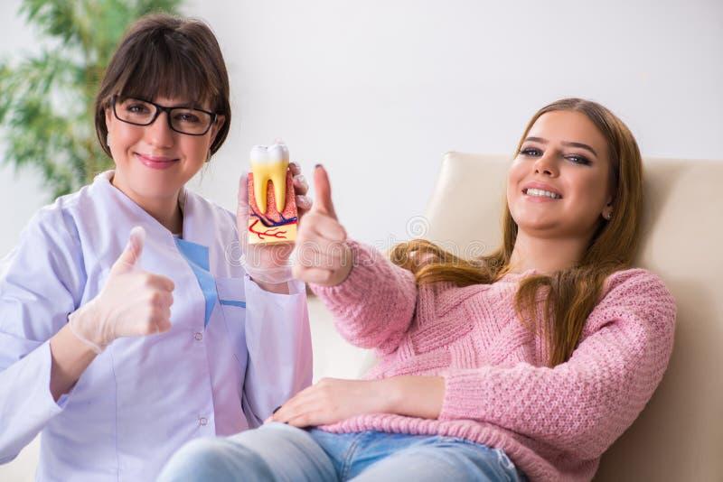 Download Il Dentista Di Visita Paziente Della Donna Per Il Controllo Generale Regolare Fotografia Stock - Immagine di igiene, dentale: 117976542
