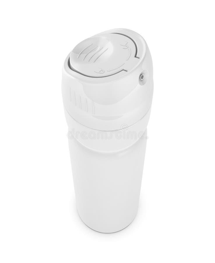 Il deodorante può primo piano illustrazione vettoriale