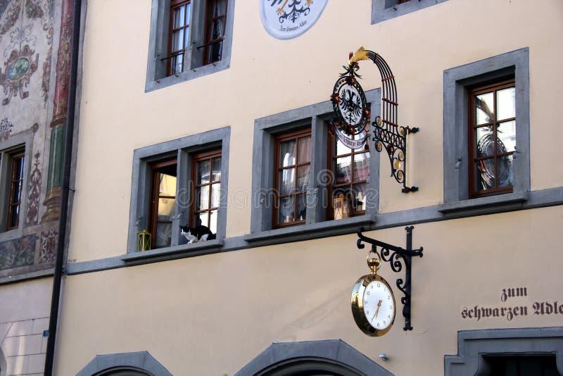 Il deposito medievale firma dentro Stein am Rhein immagine stock libera da diritti
