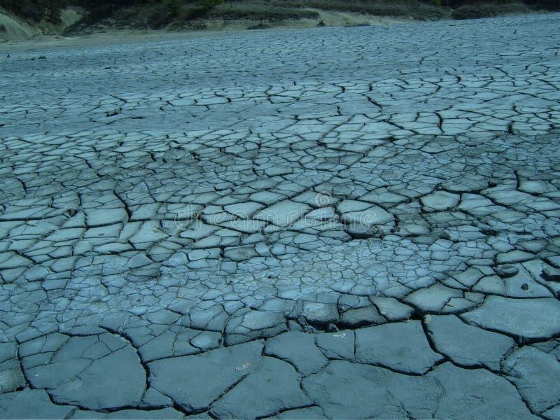 Il deserto fangoso fotografia stock