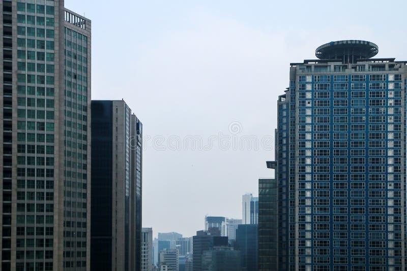 Il dettaglio del centro dell'ufficio a Seoul fotografia stock