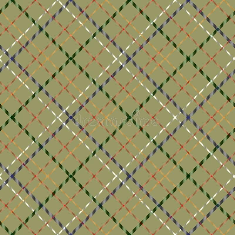 Il ¡ di Ð heckered la struttura senza cuciture del tessuto del tartan diagonale royalty illustrazione gratis