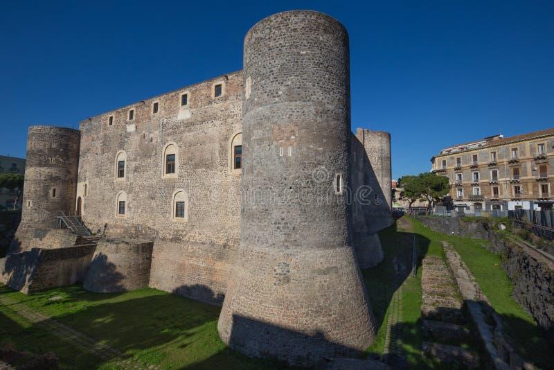 Il Di Catania di Castello Ursino Castello Svevo è una fortezza a Catania a Catania fotografia stock