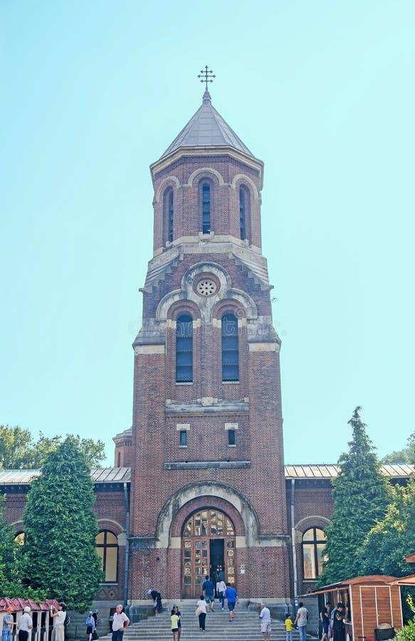 Il ` di Curtea de Arges del ` del monastero dalla Romania, chiesa ortodossa, dettaglio della cappella fotografia stock libera da diritti