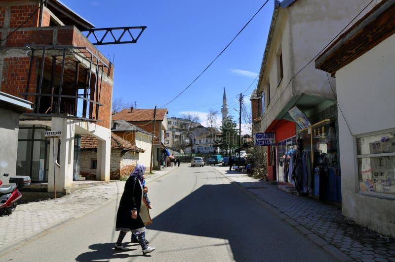 Il ¡ di DragaÅ, Dragash è una città e un comune nel distretto di Prizren del Kosovo del sud immagine stock libera da diritti