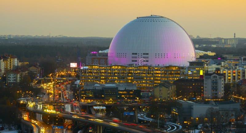 Il ` di Globen del ` di Ericsson Globe Arena fotografie stock libere da diritti