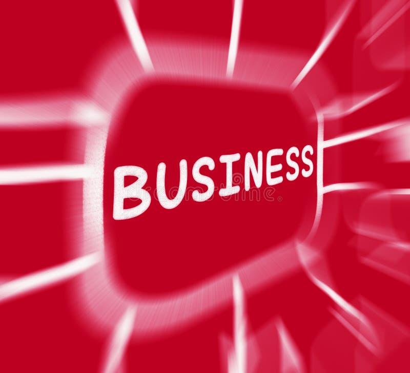 Il diagramma di affari visualizza l'organizzazione corporativa o l'impresa illustrazione vettoriale