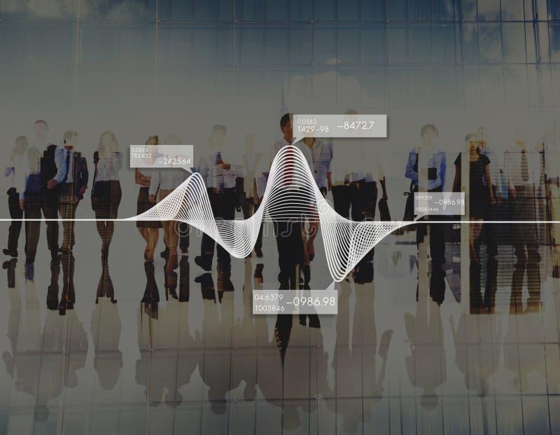Il diagramma rappresenta graficamente il concetto di riserva di dati di statistiche di informazioni fotografie stock