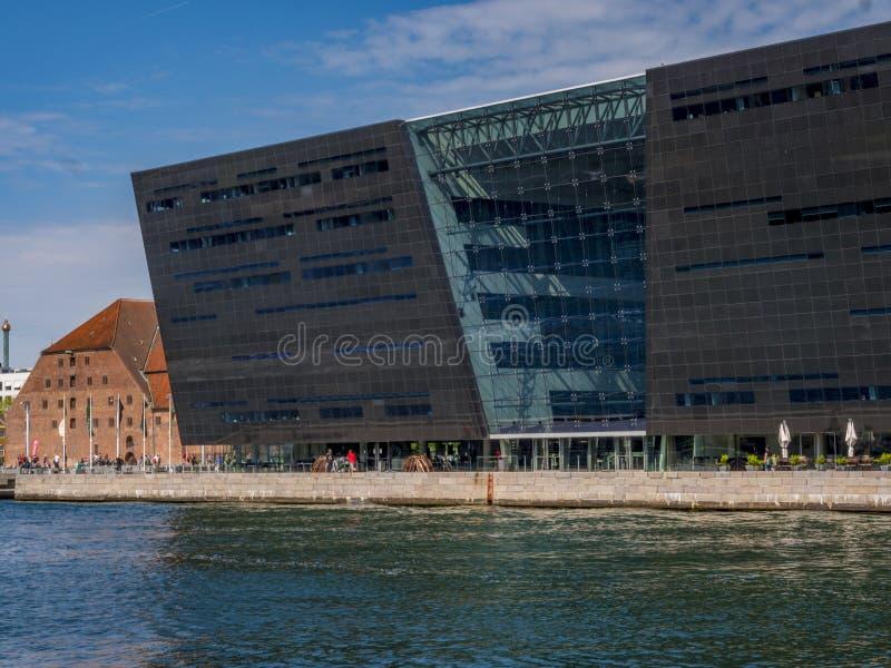 Il diamante nero, biblioteca danese reale Copenhaghen, Danimarca, feccie immagine stock