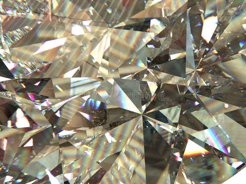 Il diamante o il cristallo triangolare stratificato di struttura modella il fondo modello della rappresentazione 3d illustrazione vettoriale