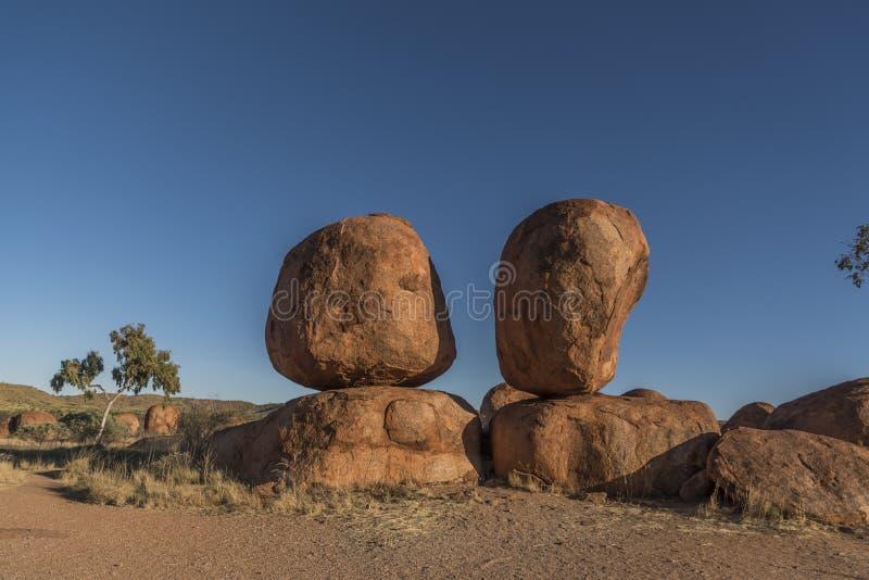 Il diavolo marmorizza l'Australia fotografie stock