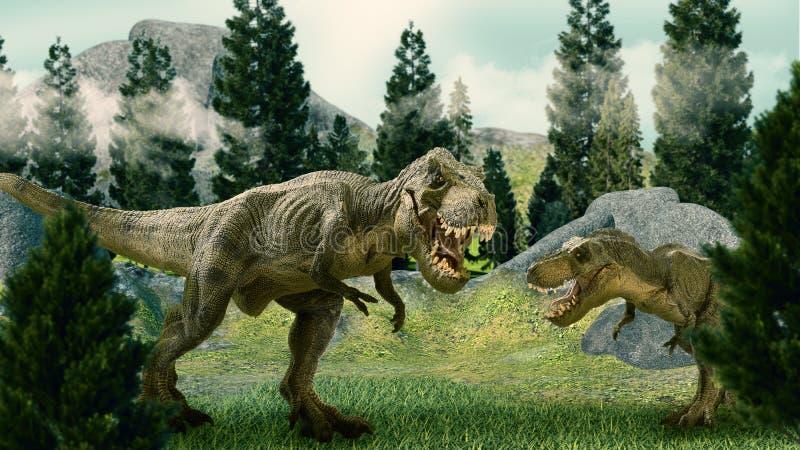 Il dinosauro 3D rende illustrazione vettoriale