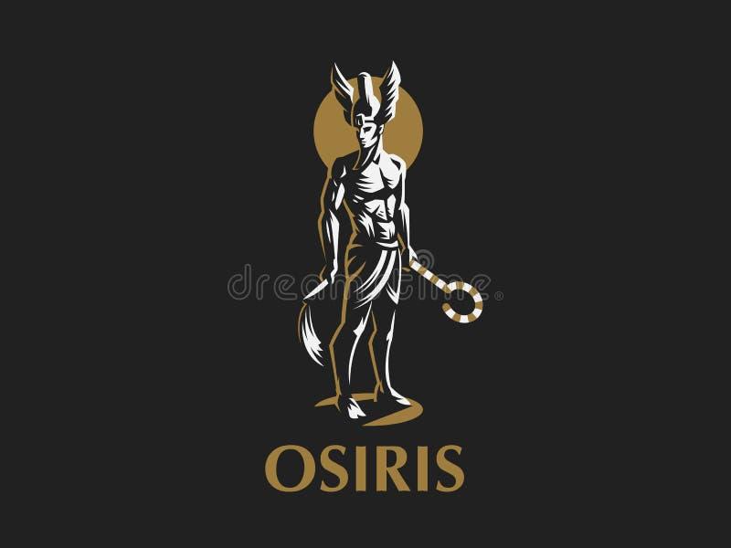 Il dio egiziano Osiris Emblema di vettore illustrazione vettoriale