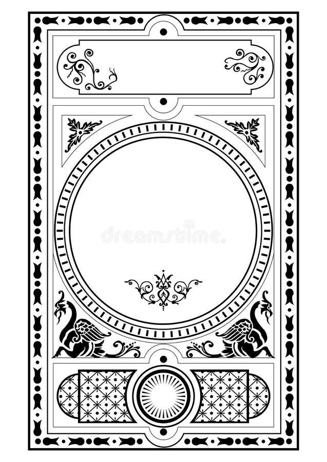 Il disegno gotico del Victorian elemen illustrazione vettoriale