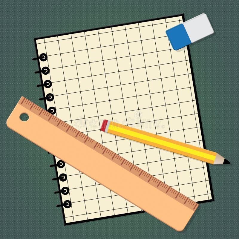 Il disegno tecnico rappresenta l'illustrazione dell'attrezzatura 3d di progettazione royalty illustrazione gratis