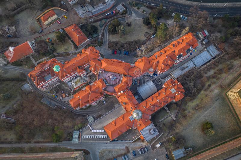 Il distretto di Podoli a Praga fotografie stock