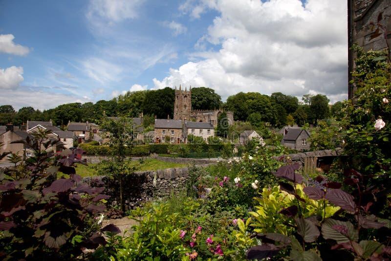 Il distretto di punta - chiesa del villaggio di Hartingdon immagini stock