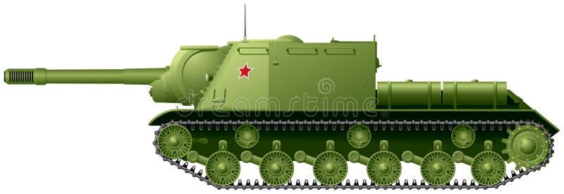 """Il distruttore di carro armato WW2 ISU-152 ha soprannominato """"l'uccisore della bestia """" illustrazione di stock"""