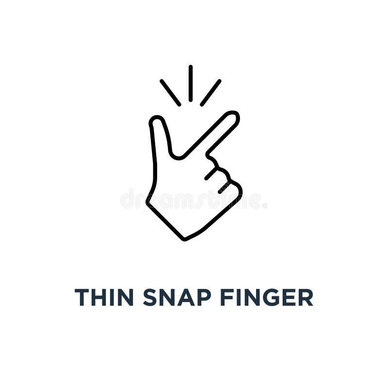 il dito improvviso sottile come l'icona facile, il concetto di progetto grafico semplice del logotype di okey di tendenza lineare royalty illustrazione gratis