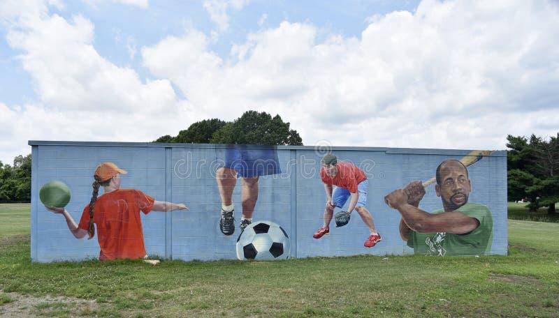 Il divertimento è tutt'intorno lato murale 1 Willow Park, Memphis, TN fotografia stock