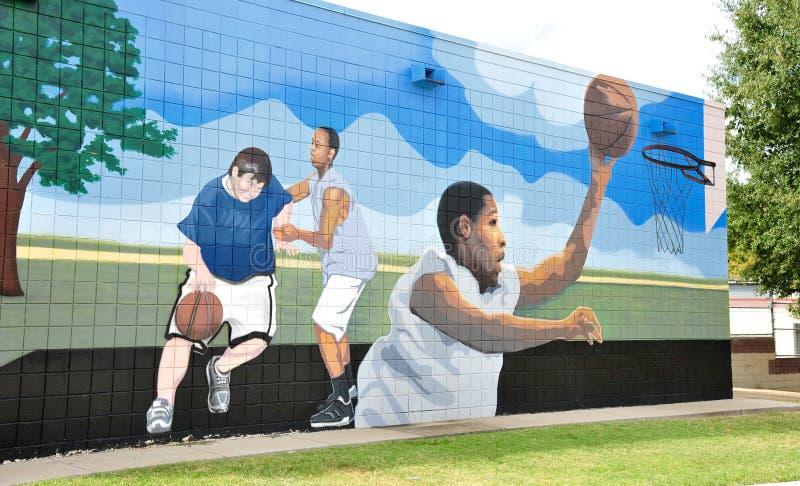 Il divertimento è tutt'intorno murale, a Memphis, il Tennessee immagine stock libera da diritti