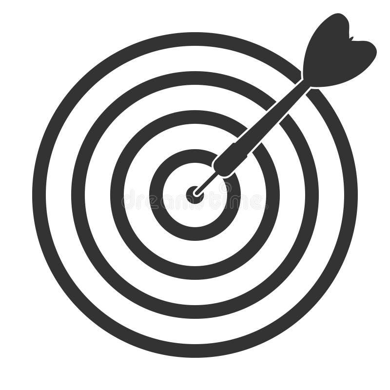 Il divertimento dardeggia l'icona dell'obiettivo della freccia illustrazione vettoriale