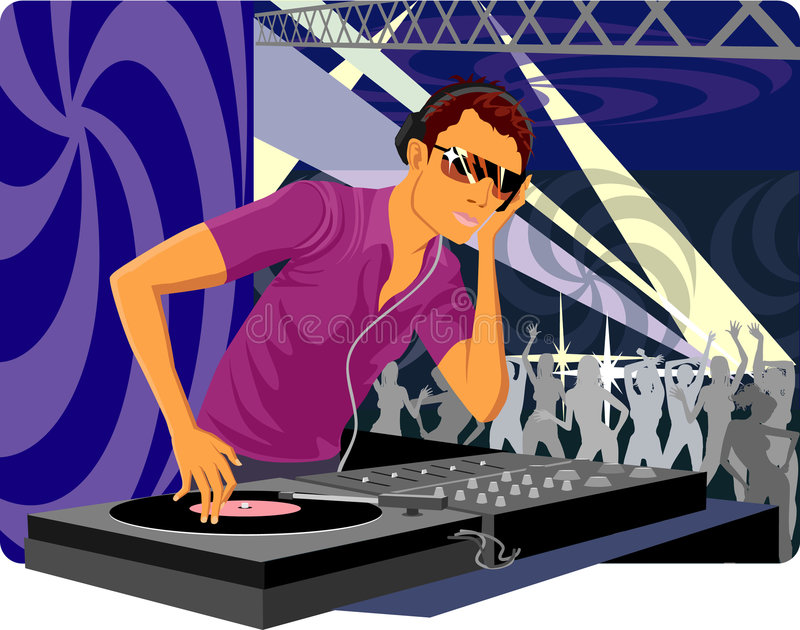 Il DJ immagini stock
